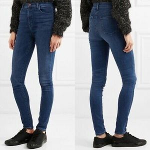 "J Brand Carolina Super High Rise"" skinny in Swift"